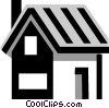 Vector Clipart graphic  of a single family homes