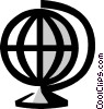 world globe Vector Clipart graphic