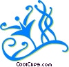 Vector Clip Art picture  of a vines