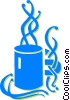 Vector Clip Art image  of a coffee cup