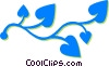 Vector Clip Art graphic  of a leafy vine
