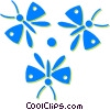 Vector Clipart graphic  of a butterflies