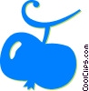 Vector Clip Art graphic  of an apple