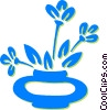 Vector Clip Art image  of a potted plant