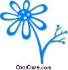 Vector Clip Art picture  of a daisy
