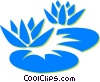 lily pads Vector Clip Art graphic