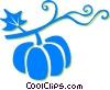Vector Clipart graphic  of a pumpkin