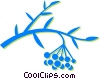 Vector Clip Art image  of a wild berries
