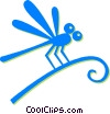 Vector Clip Art graphic  of a dragon fly