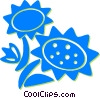Vector Clip Art image  of a sunflowers