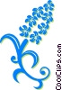 decorative floral design Vector Clip Art graphic