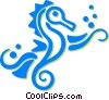 Vector Clip Art picture  of a sea horses