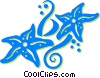 Vector Clipart graphic  of a star fish