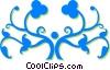 decorative floral design Vector Clipart illustration