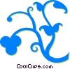 decorative floral design Vector Clip Art picture