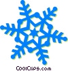 Vector Clipart illustration  of a snowflake