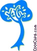 Vector Clipart image  of a tree