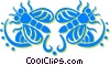 Vector Clipart graphic  of a flies