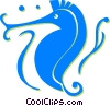 Vector Clip Art graphic  of a sea horses