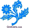 Vector Clipart picture  of a decorative floral elements
