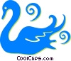 Vector Clip Art picture  of a swan