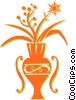 Vector Clipart picture  of a flowers in a vase