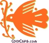 Vector Clip Art image  of a dove of peace