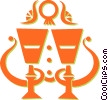 Vector Clipart illustration  of a chalices