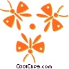 butterflies Vector Clipart graphic
