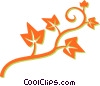 leafy vine Vector Clipart illustration