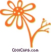 Vector Clip Art graphic  of a daisy