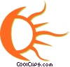 moon and sun Vector Clipart illustration