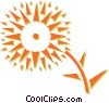 Vector Clip Art image  of a sun flower