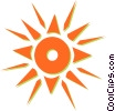 Vector Clipart image  of a sun