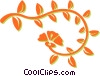 Vector Clip Art picture  of a decorative floral design