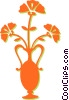 flowers in a vase Vector Clip Art graphic