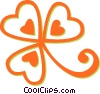 Vector Clip Art graphic  of a clover
