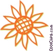 Vector Clip Art graphic  of a sunflower