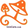 Vector Clip Art graphic  of a wild mushrooms