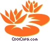 Vector Clipart picture  of a lily pads