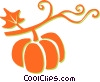 Vector Clipart image  of a pumpkin