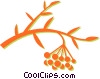 Vector Clipart illustration  of a wild berries