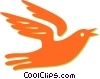 Vector Clip Art image  of a dove