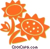 Vector Clipart graphic  of a sunflowers