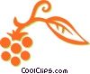 Vector Clip Art graphic  of a raspberries