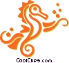 Vector Clipart picture  of a sea horses