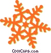 Vector Clip Art image  of a snowflake