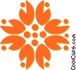 Vector Clipart illustration  of a decorative floral design