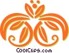 decorative floral design Vector Clipart image