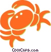 Vector Clipart picture  of a crab